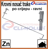 Roof holder for galvanized flat tape for roof tile